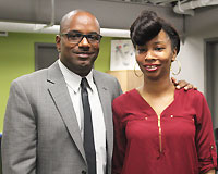 Antoinette with her Family Achievement Coach after presenting to Minnesota state legislators