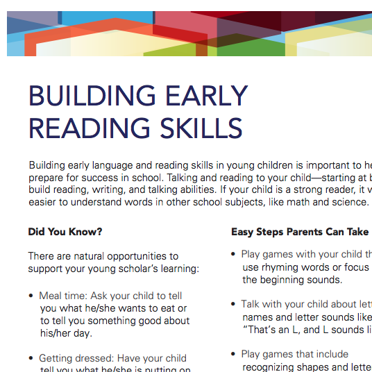 Building Early Reading Skills