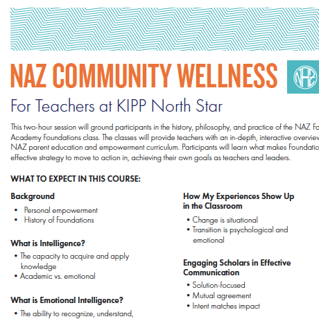 Community Wellness 101 for KIPP