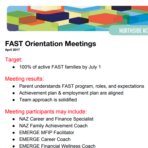 FAST Orientation Meeting