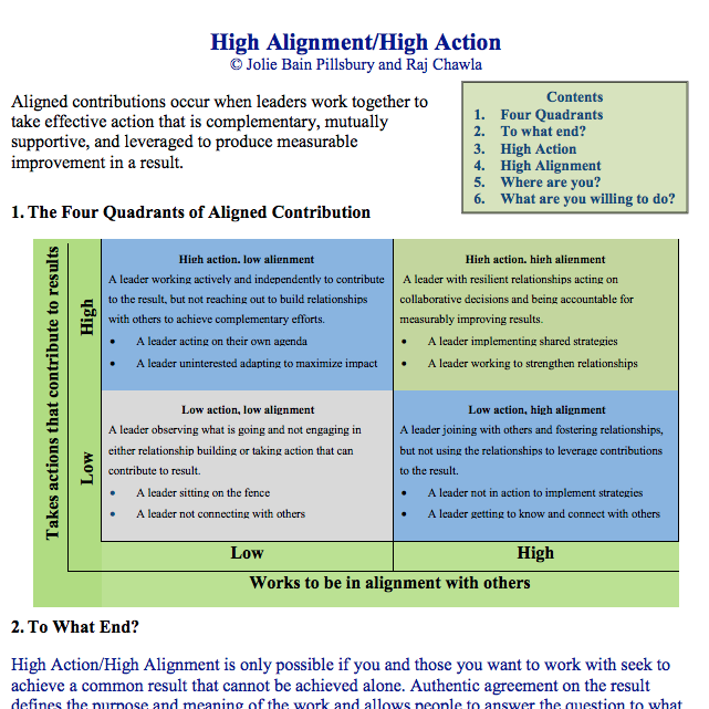 High Action | High Alignment overview
