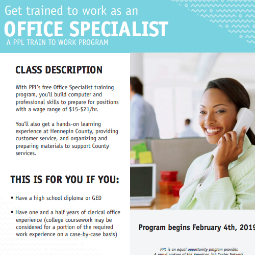Hennepin County Office Specialist