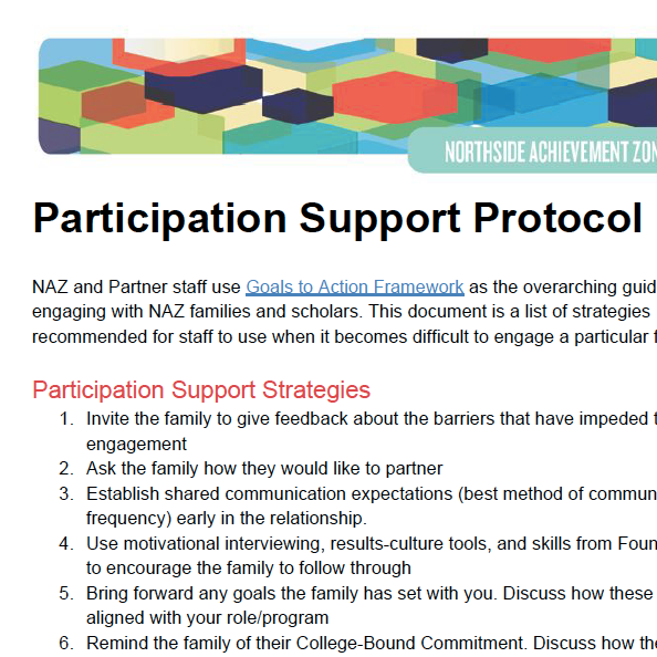 Participation Support Protocol