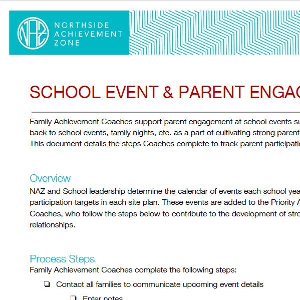 School Event and Parent Engagement