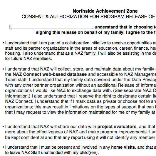 Initial Consent Form