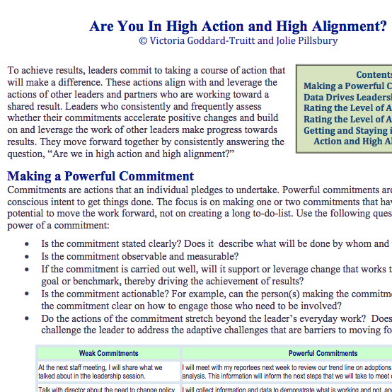 High Action | High Alignment - Are you?
