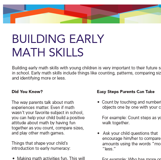 Building Early Math Skills