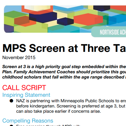 MPS Screen at Three Process