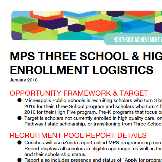 MPS Three School and High Five Logistics