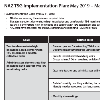 TSG Implemenation Plan